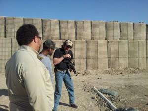 InDev Tactical advisor providing instruction during live-fire training exercise