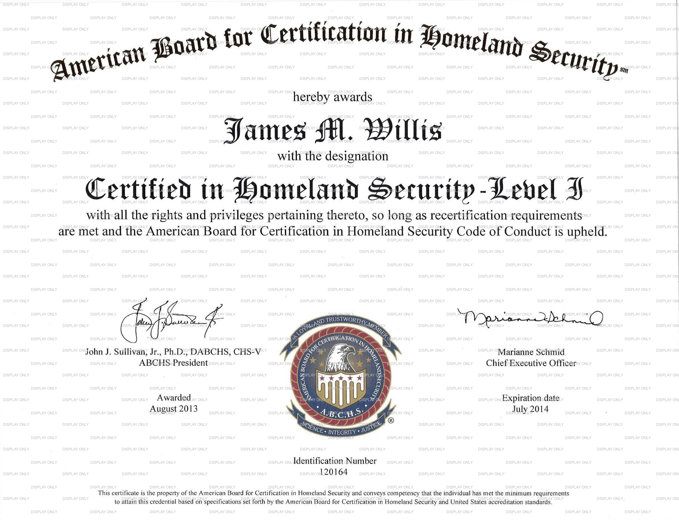 Indev tactical security logistics and risk management certified in homeland security level 1 certificate image 1betcityfo Gallery
